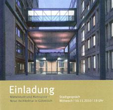 Stadtgespräch: Mittelstadt und Metropole – Neue Architektur in Gütersloh