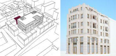 Erster Blick auf Winkel. Entwurf für Neubau am Bildermuseum steht