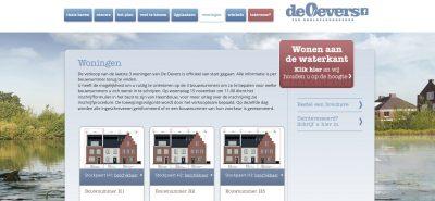 3 van de 300: De laatste drie woningen aan De Oevers zijn in verkoop gegaan