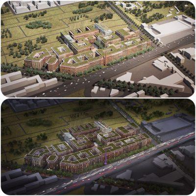 Ehemalige Tabakfabrik wird eine neue Stadt in der Stadt