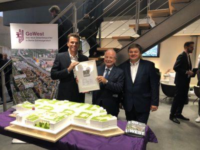 Verleihung des DGNB-Vorzertifikats in Platin für GoWest