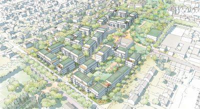 3. Rang Städtebaulicher Ideenwettbewerb Mettefeld, Berlin-Rudow