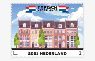 Huizen Brandevoort op postzegel