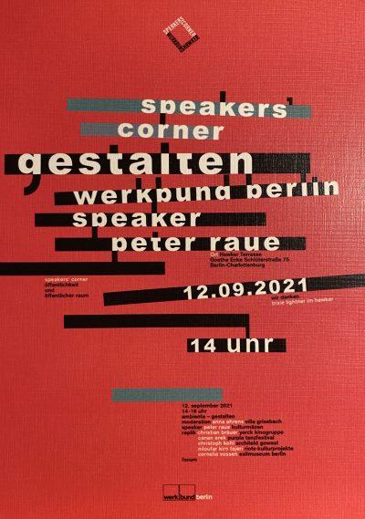 Speaker's Corner Werkbund | Öffentlichkeit und öffentlicher Raum